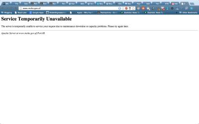 MOHE Website Error