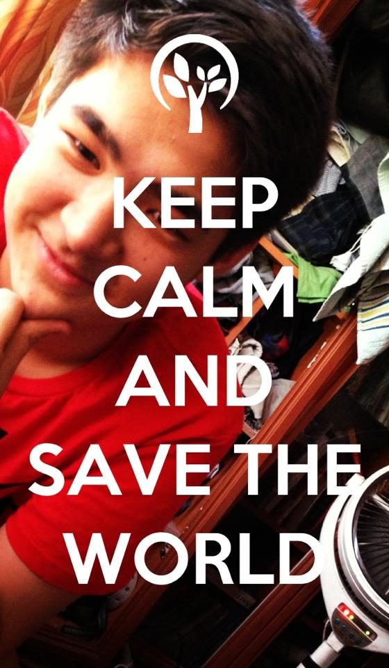 keep calm and save the world